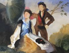 Study I for Green Parasol, (after Goya)