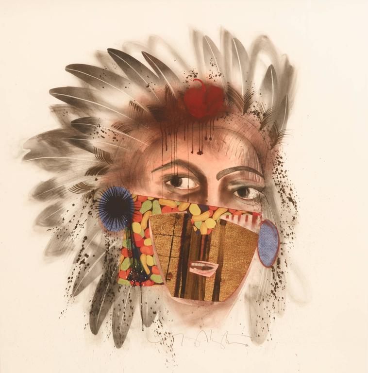 La Junta Indian Drawing I - Mixed Media Art by Tony Abeyta