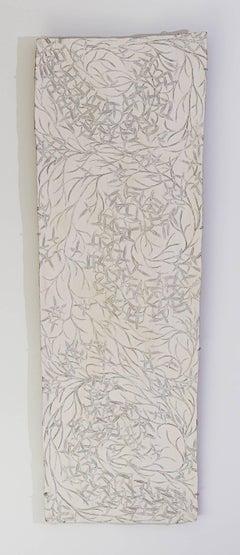 """Yukuwa (bush yam)"", ochre on bark painting"