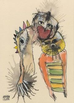 'Animal Kingdom', Michael Hafftka. Surrealist figurative watercolor painting