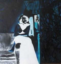 """MMD (Negativ)"", figurative painting of film star"