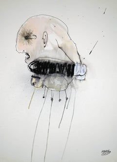 Michael Hafftka, Maternal Instinct, contemporary figurative watercolor on paper