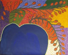 Ruby Williamson, Honey Grevillea contemporary abstract Australian Aboriginal Art