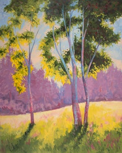 Aspen in Violet and Green