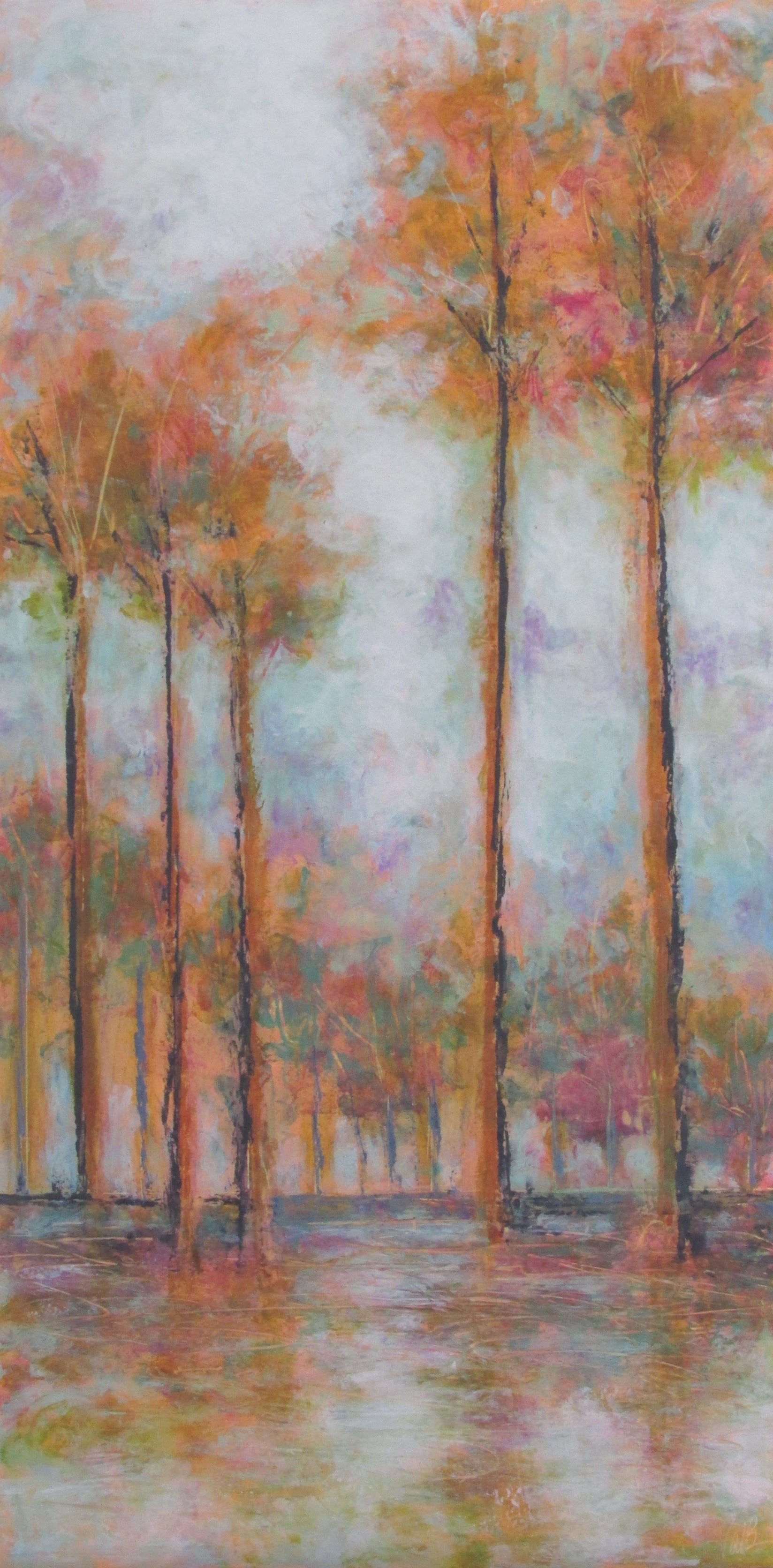 Tree Rows, Oil Painting
