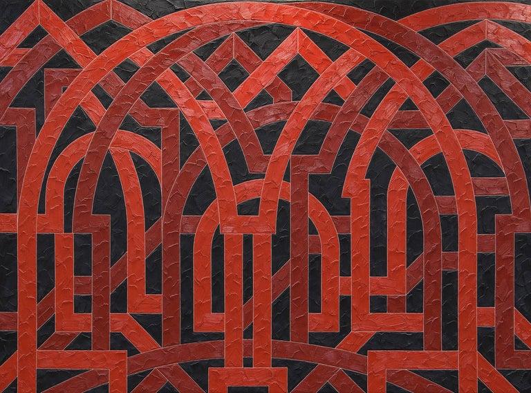 Valerie Jaudon Abstract Painting - Palmyra