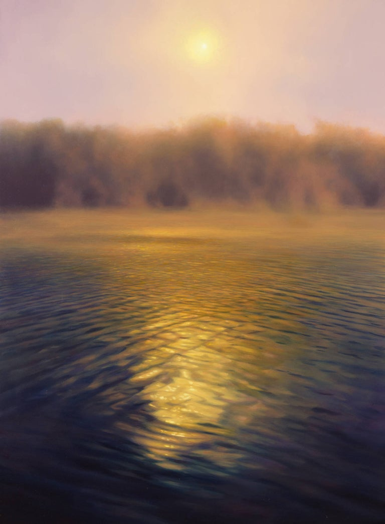 Scott Prior Landscape Painting - Sunrise Over River