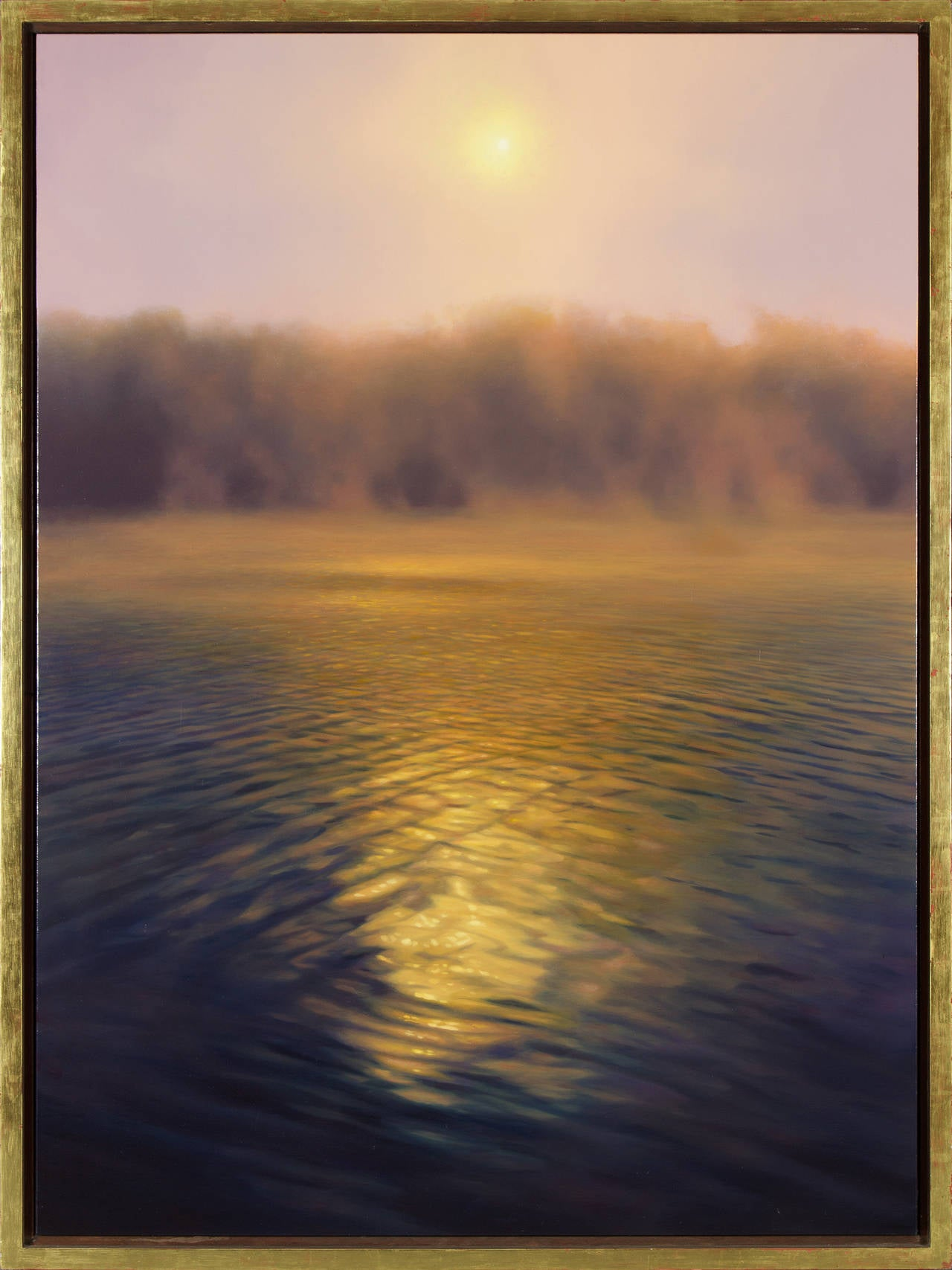 Sunrise Over River - Painting by Scott Prior
