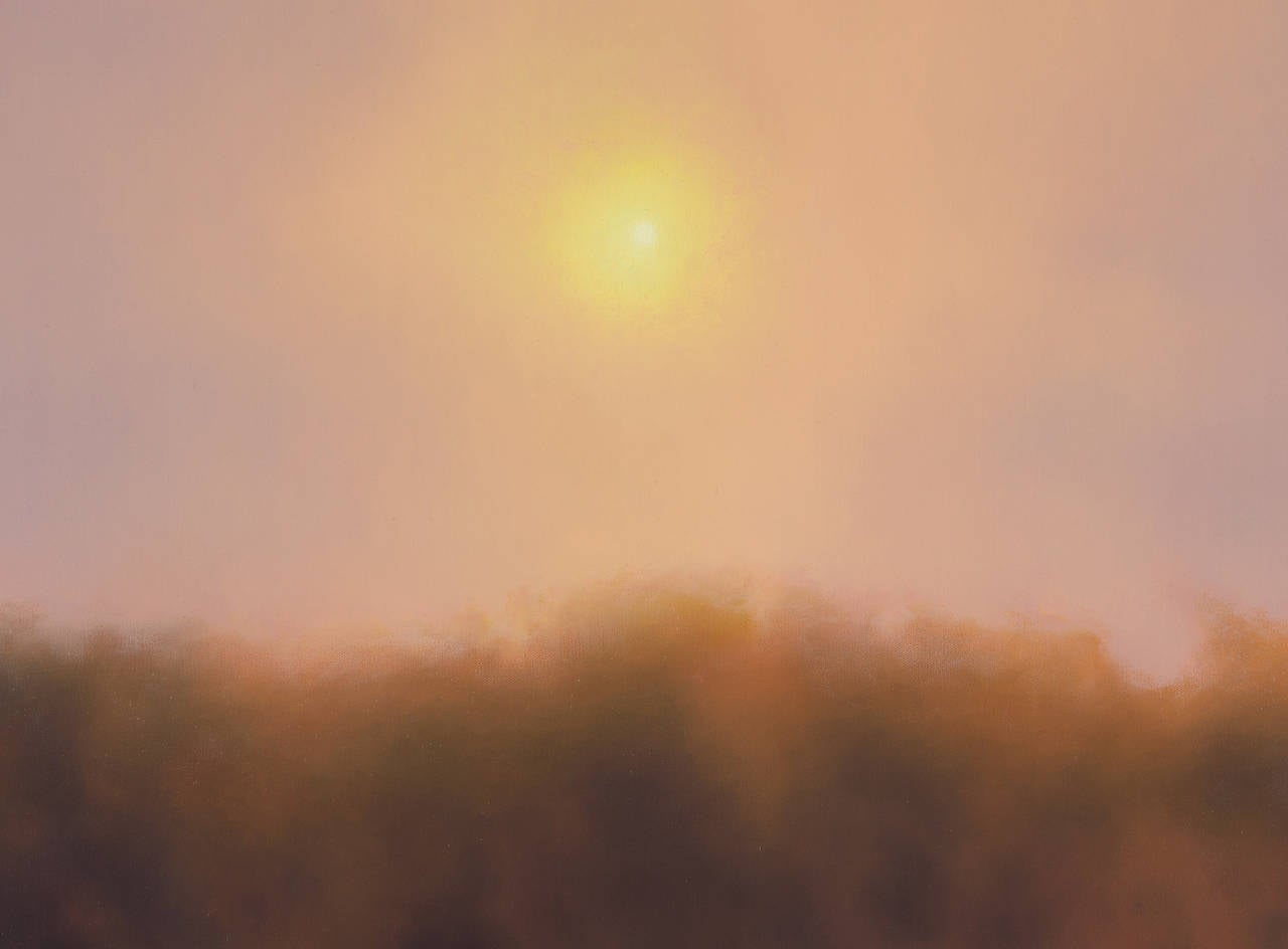 Sunrise Over River - Contemporary Painting by Scott Prior
