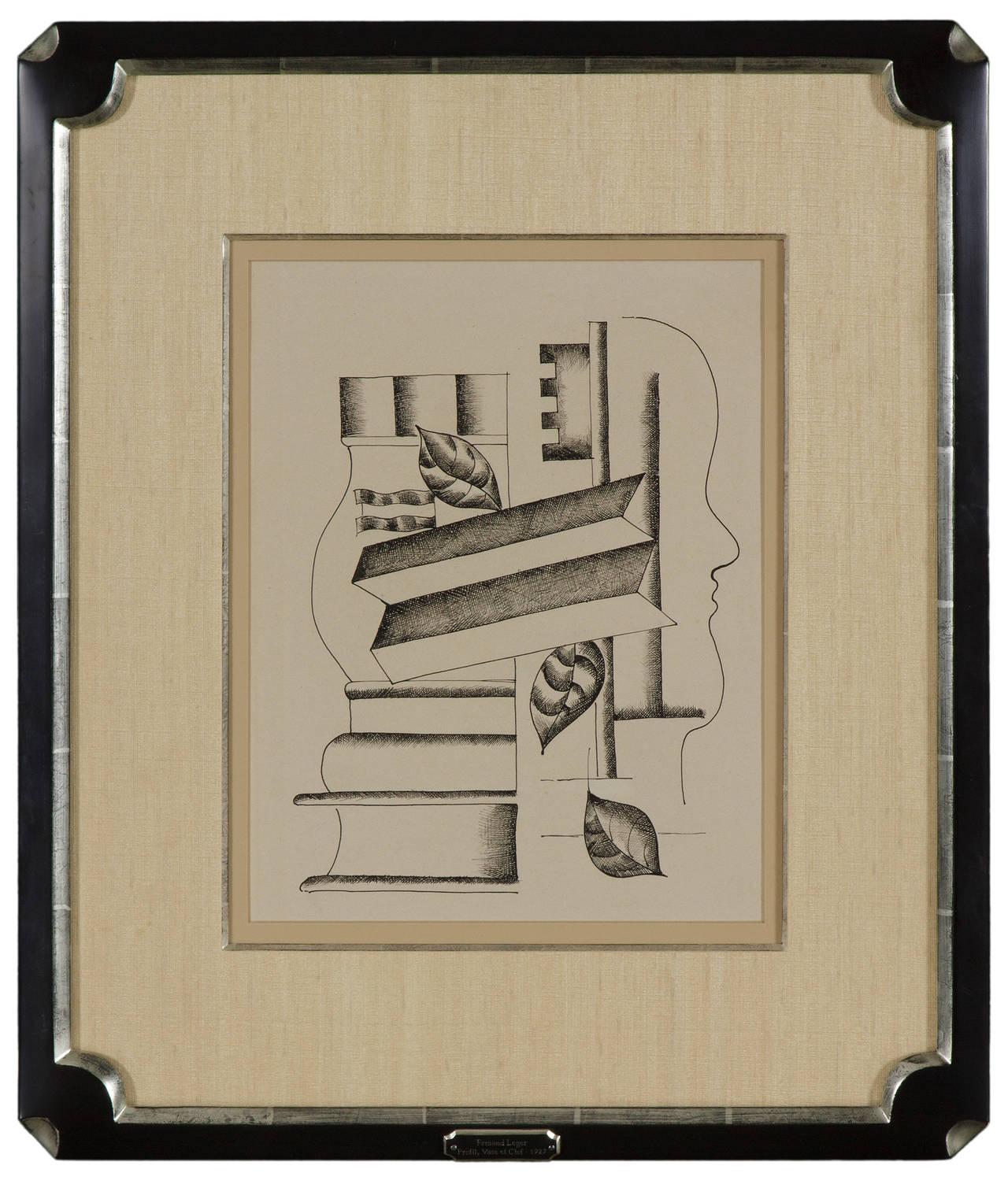 Profil, Vase et Clef - Art by Fernand Léger