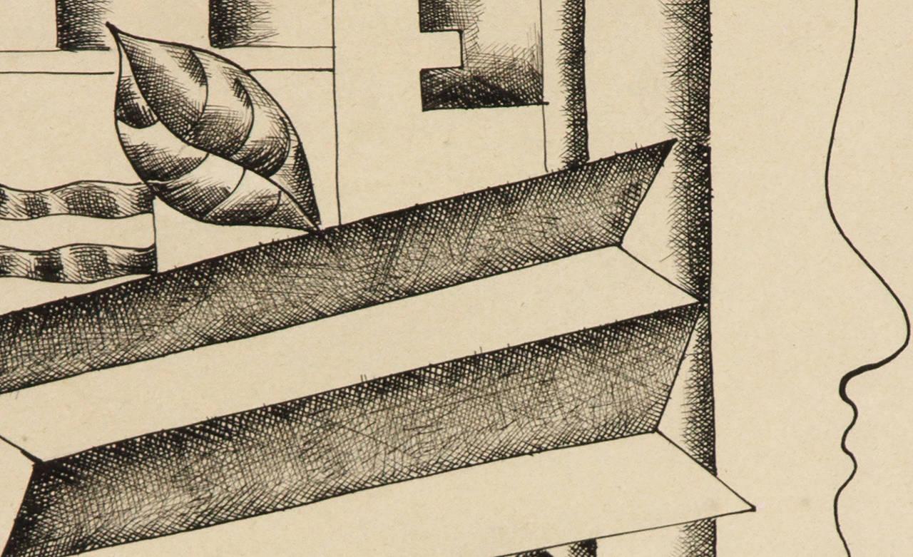 Profil, Vase et Clef - Modern Art by Fernand Léger