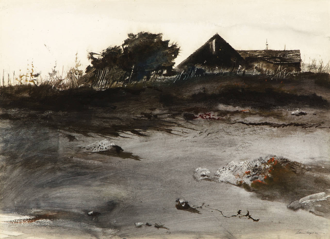 andrew wyeth wet sand painting at 1stdibs