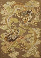 Silk Embroidery with Dragons