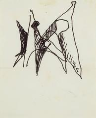 "Alexander Calder - Sketch of ""Man"" Stabile"