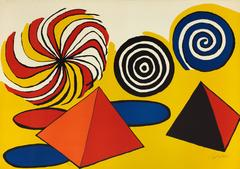 Alexander Calder - Untitled (Circles and Pyramids)