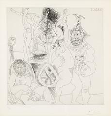 Pablo Picasso - Halte de Comédians Ambulants, Avec Hibou (from the 347 series)