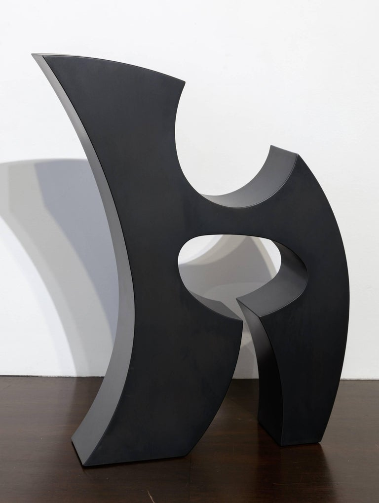 Ed Dean Abstract Sculpture - Rune (Black)