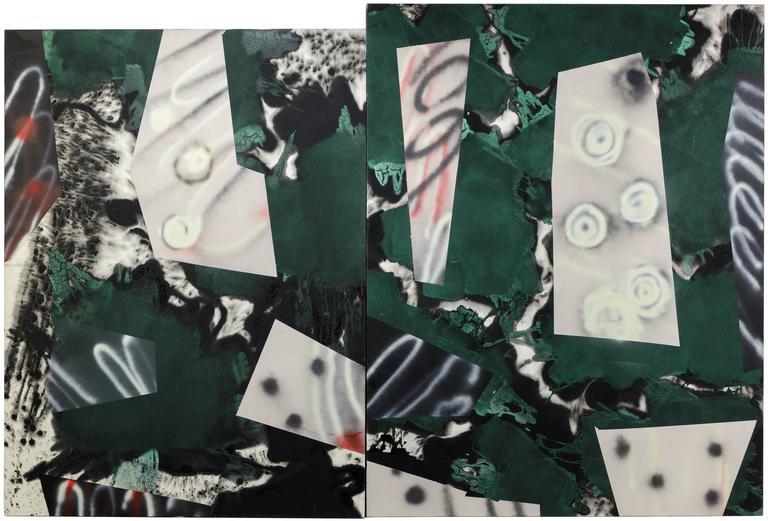 Ed Moses Abstract Painting - Nambo Panel I & II