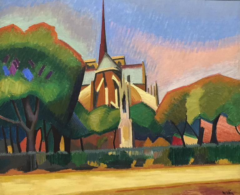Auguste herbin notre dame paris painting for sale at for Auguste herbin oeuvre
