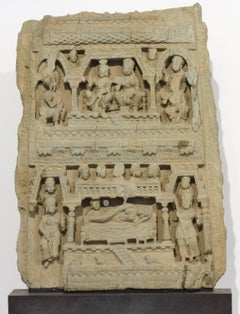 Gandharan Frieze with Scenes from the Life of Buddha