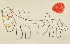 Joan Miró - Ohne Title Pl. 09 (from L'enfance d'Ubu)