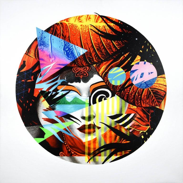 Peter Gerakaris Figurative Painting - Piton Opera Mask Remix