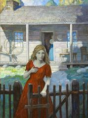 Once the Girl Started Through the Yard as Though She Would Rush After Them and S