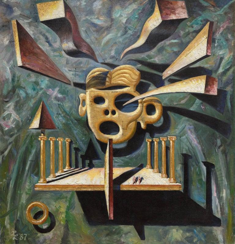 Leonid Lamm Figurative Painting - State Power