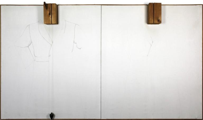 Jim Dine Abstract Painting - Double Silver Point Robes