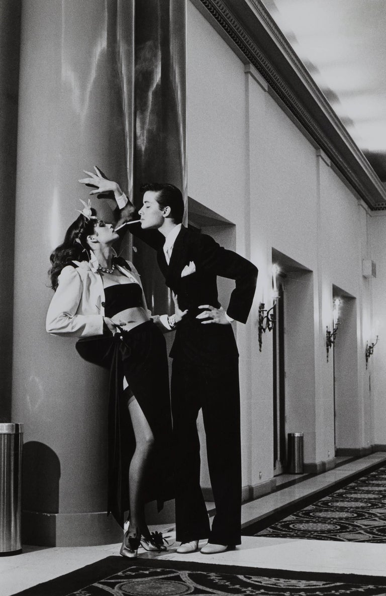 Woman into Man, Hotel George V, for French Vogue, 1979