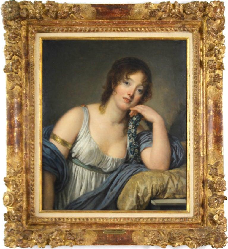 Jean-Baptiste Greuze Portrait Painting - Portrait of Jeanne Philiberte Ledoux (1767–1840)