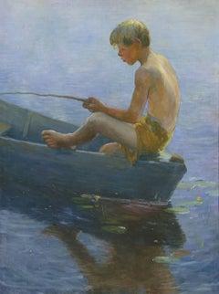 Boy Sitting in Boat