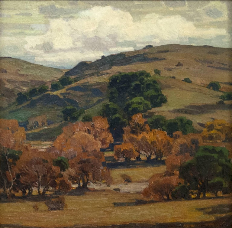 William Wendt Landscape Painting - Clouds of Silver