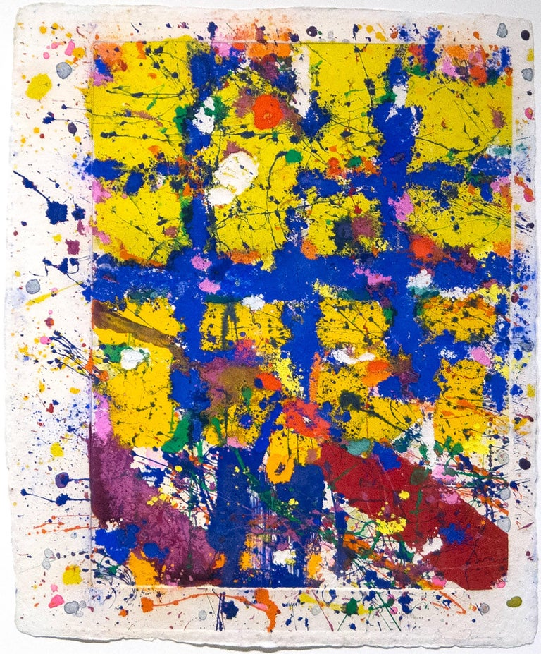 Sam Francis Abstract Print - Coincident Blue & Gold