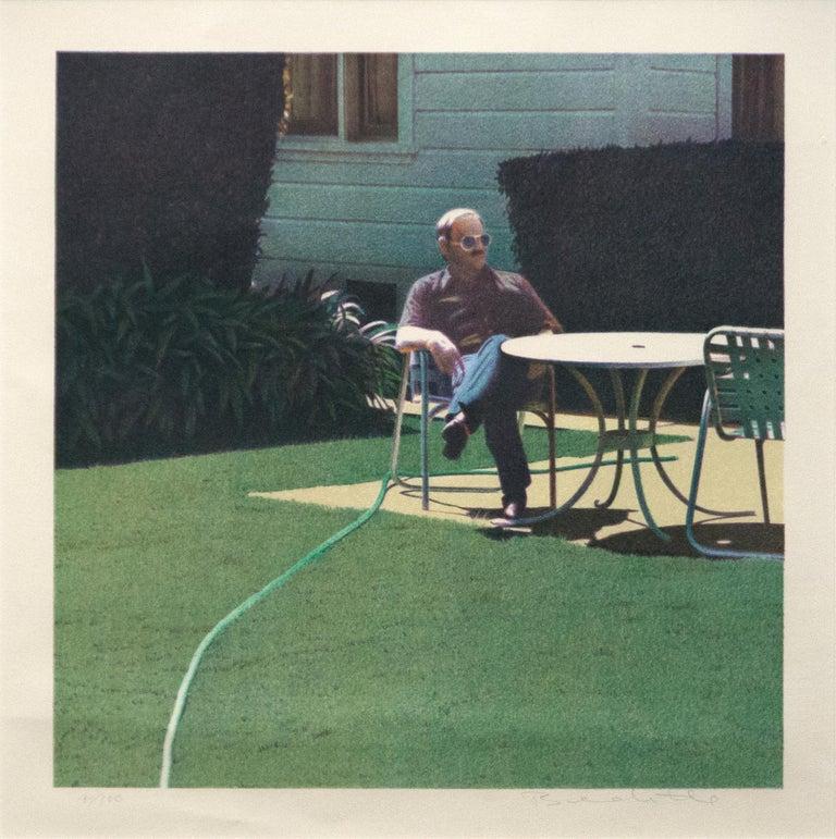 Robert Bechtle Figurative Print - Santa Barbara Patio, 12/10/1982