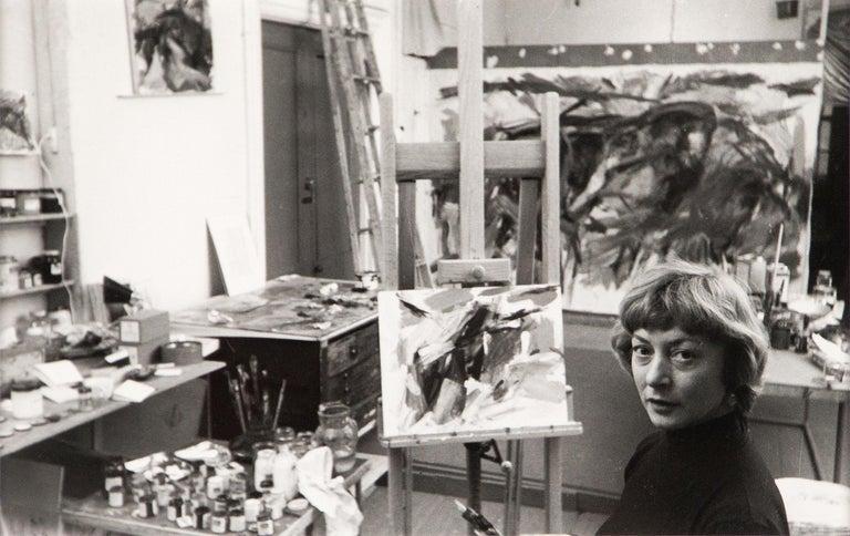 Rudy Burckhardt Portrait Photograph - Elaine de Kooning, New York (in Studio)