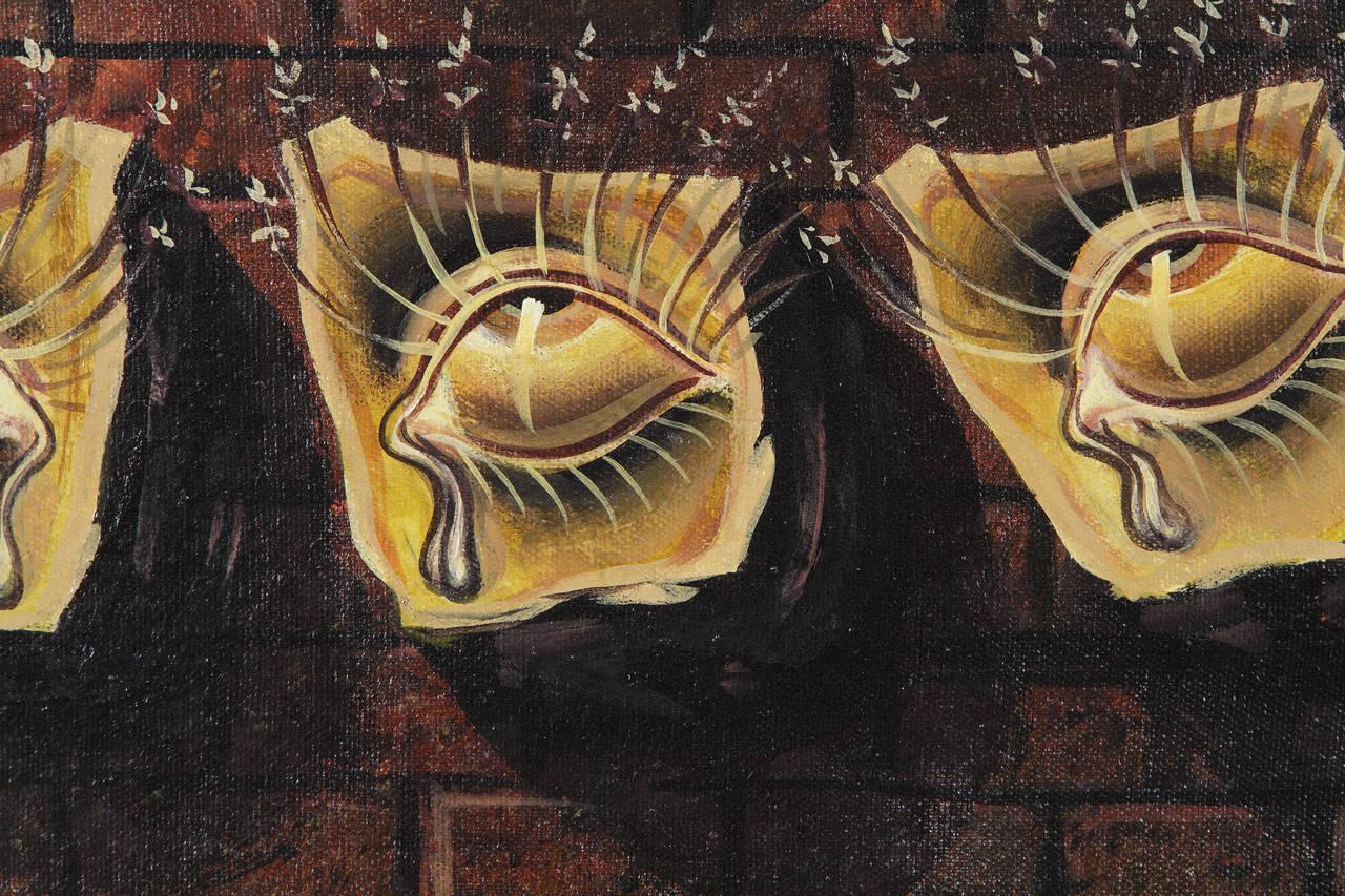 Les Yeux Fleuris - Painting by Salvador Dalí