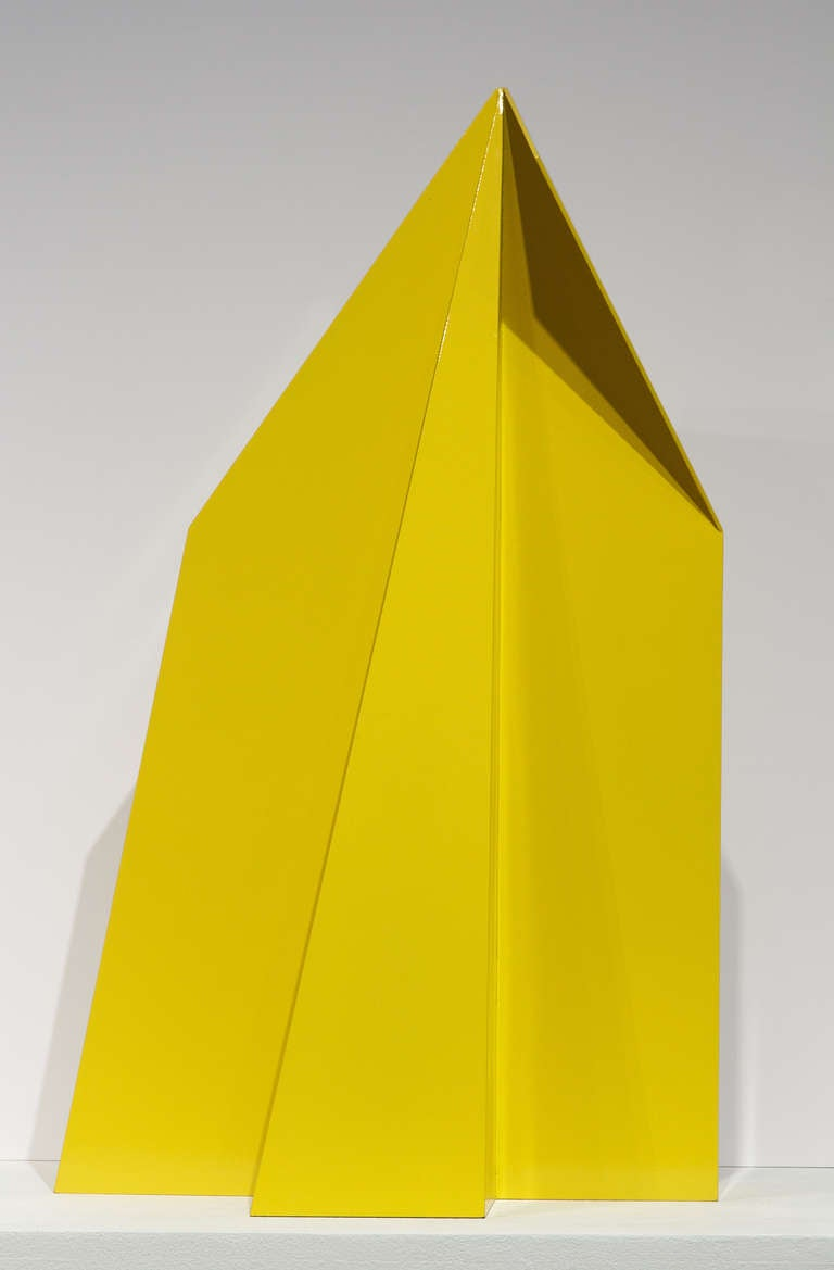 Majestad IV - Yellow Abstract Sculpture by Betty Gold