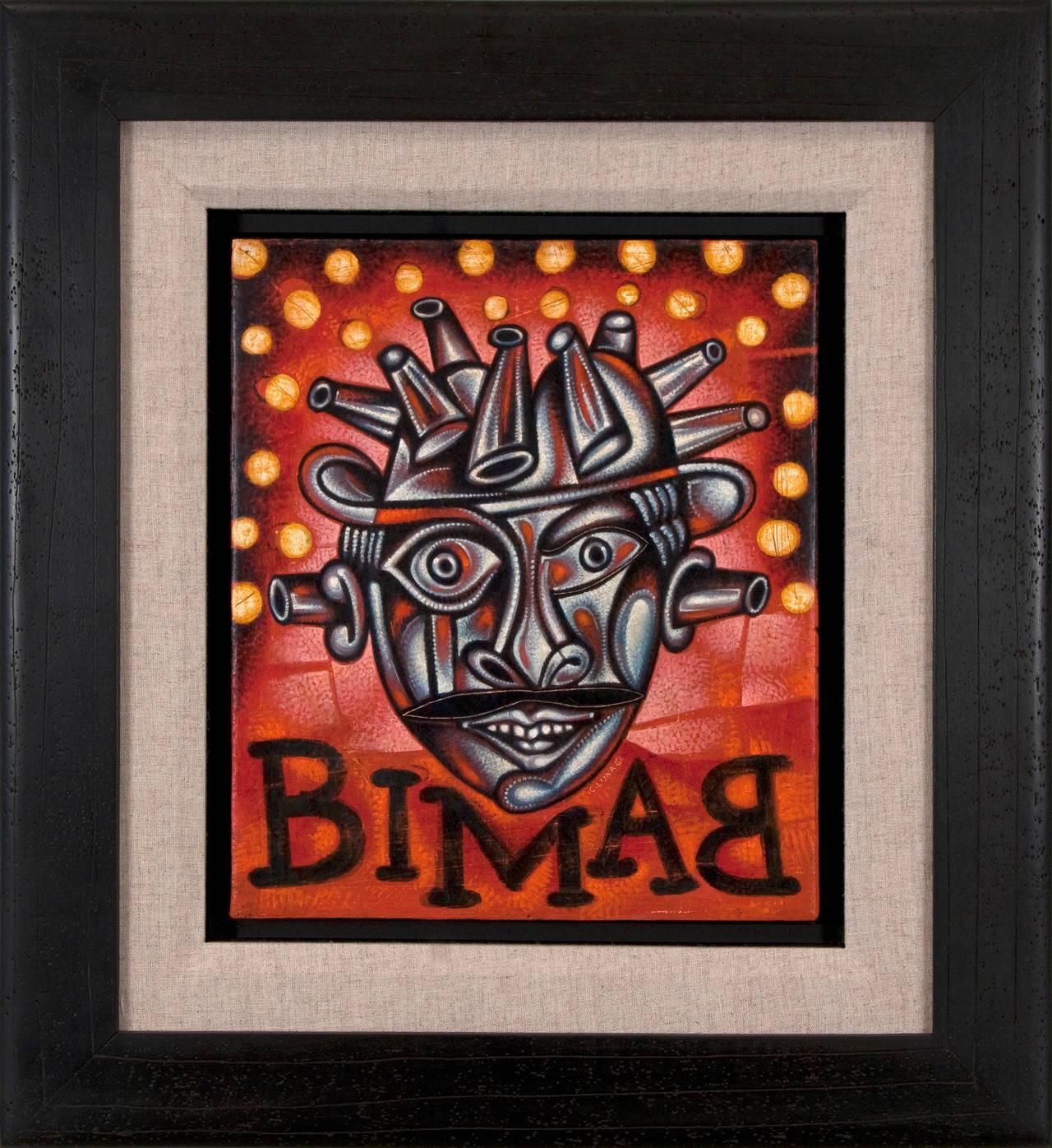 Bimbam - Black Figurative Painting by Carlos Luna