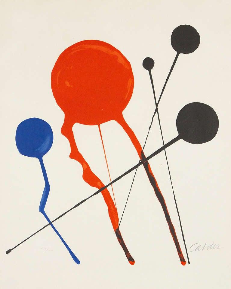 Alexander Calder Abstract Print - Balloons