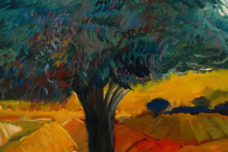 Blue Line Art Painting : Yehouda chaki blue line painting at stdibs