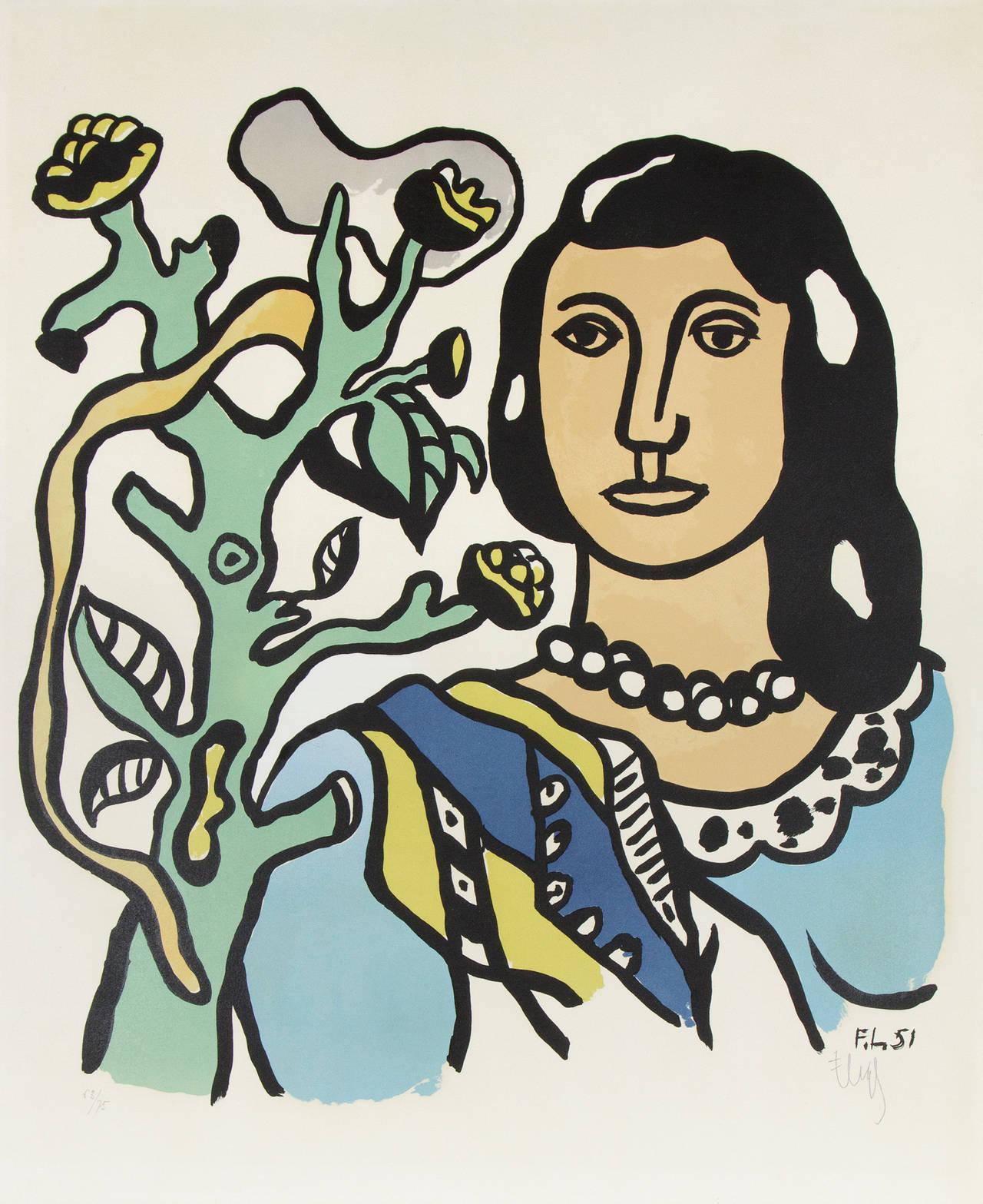 Fernand l ger la femme et la fleur print for sale at for Catalogue ets leger le mans