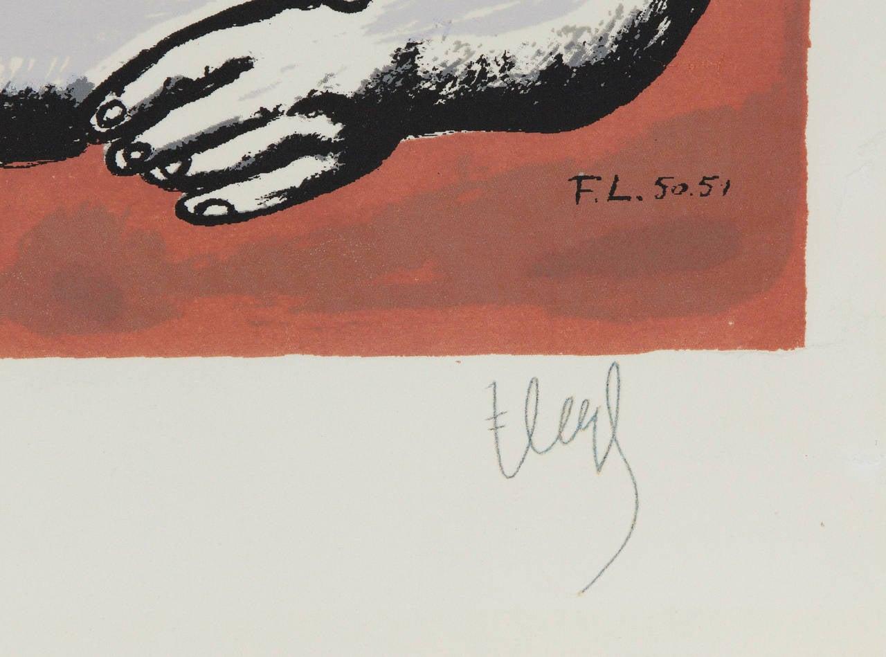 Femmes et Enfants a l'Accordeon - Modern Print by Fernand Léger