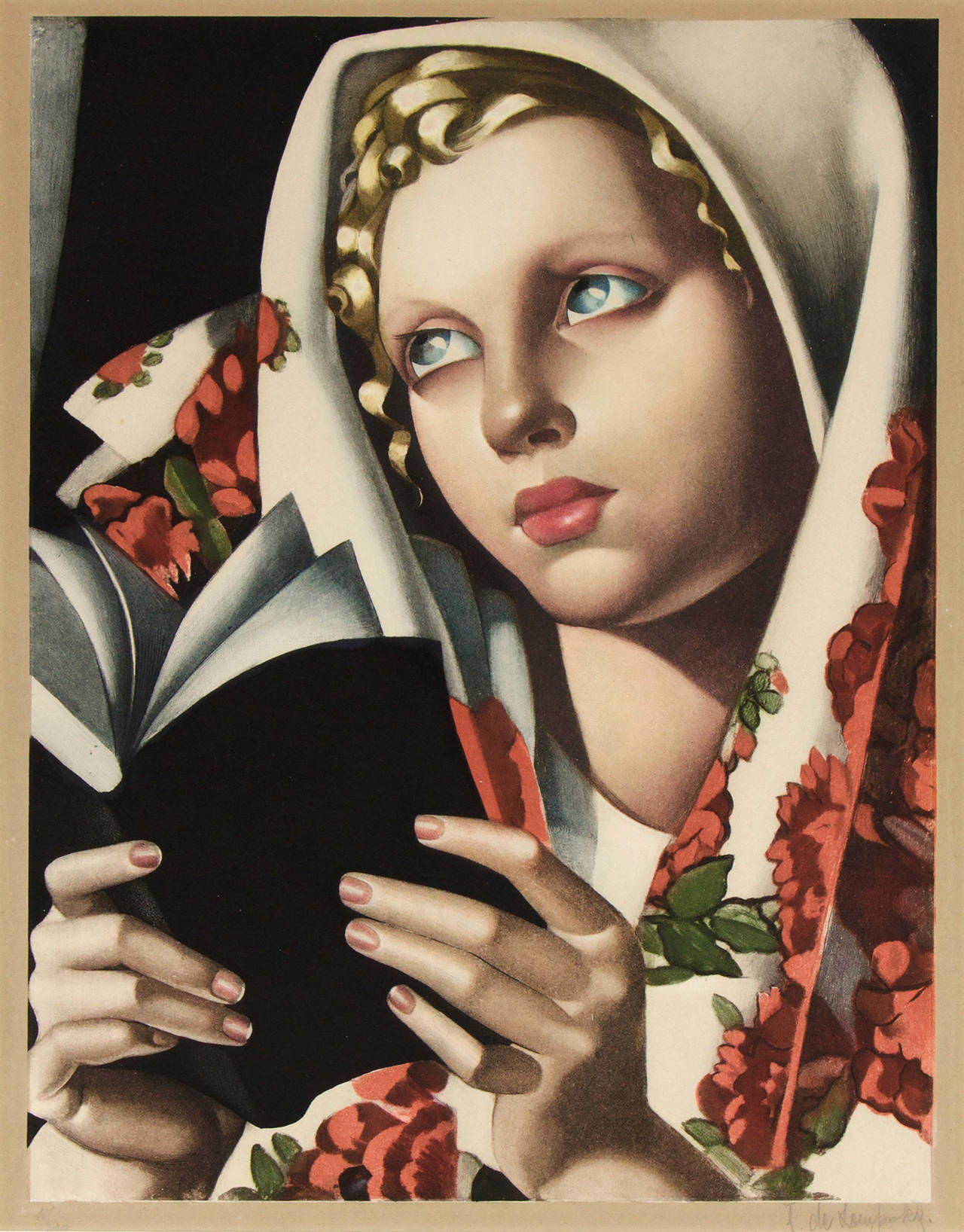 tamara de lempicka la polonaise print for sale at 1stdibs. Black Bedroom Furniture Sets. Home Design Ideas