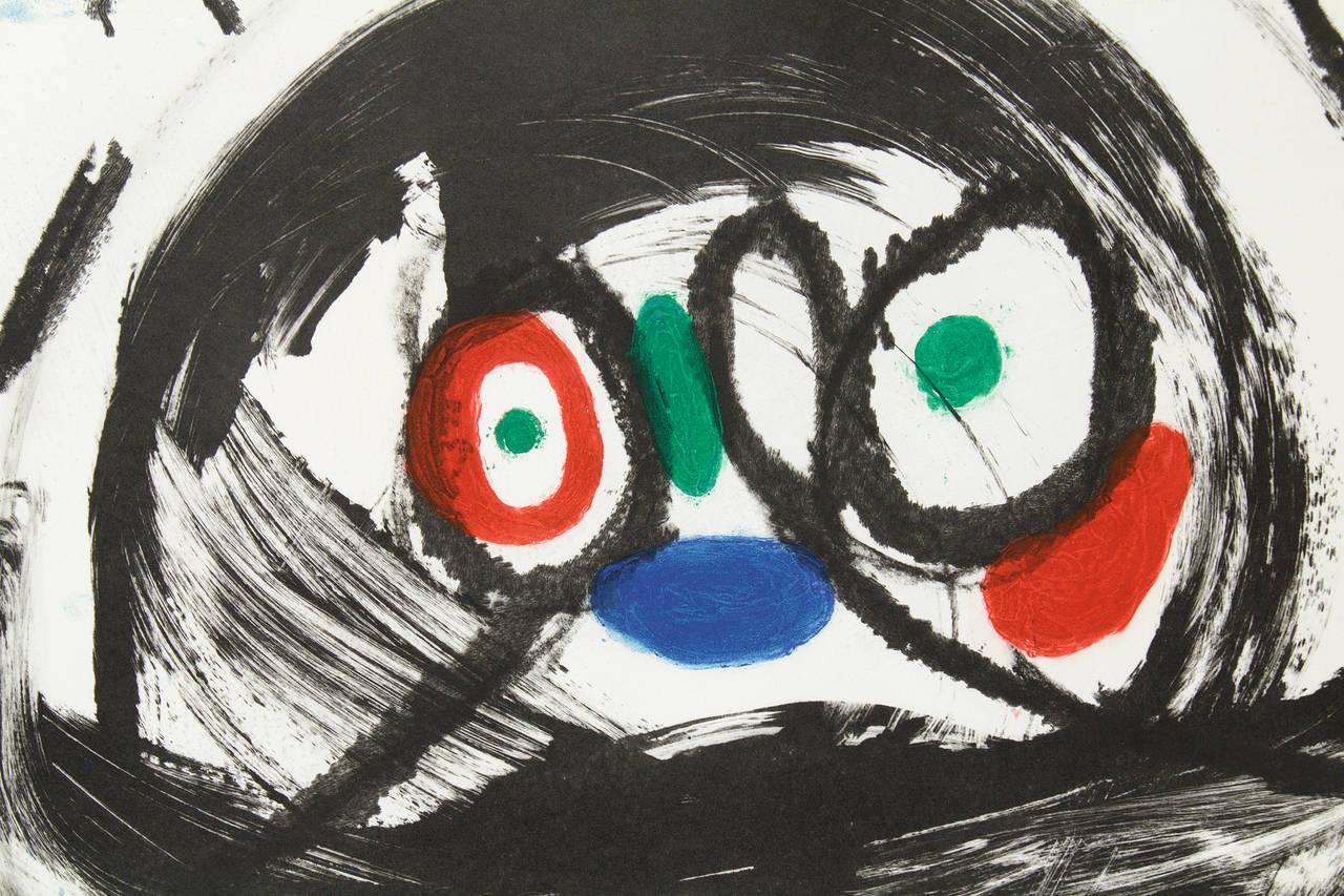 L'Automobiliste a Mustaches - Black Figurative Print by Joan Miró