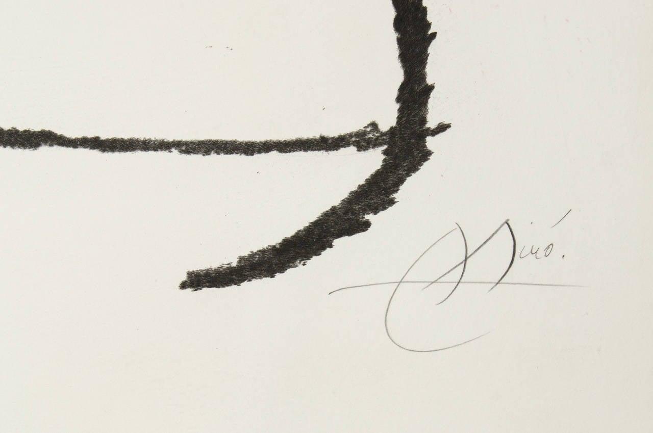 L'Automobiliste a Mustaches - Modern Print by Joan Miró