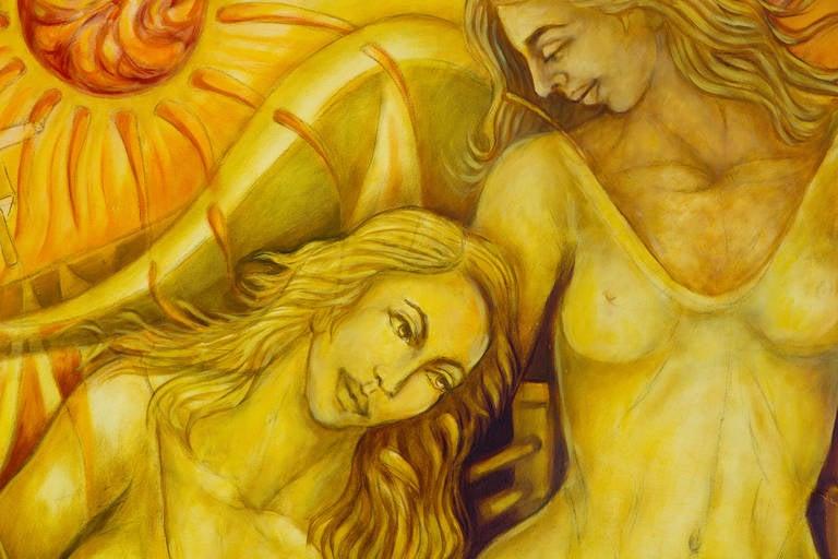 Enegia Solar - Contemporary Painting by Julio Susana