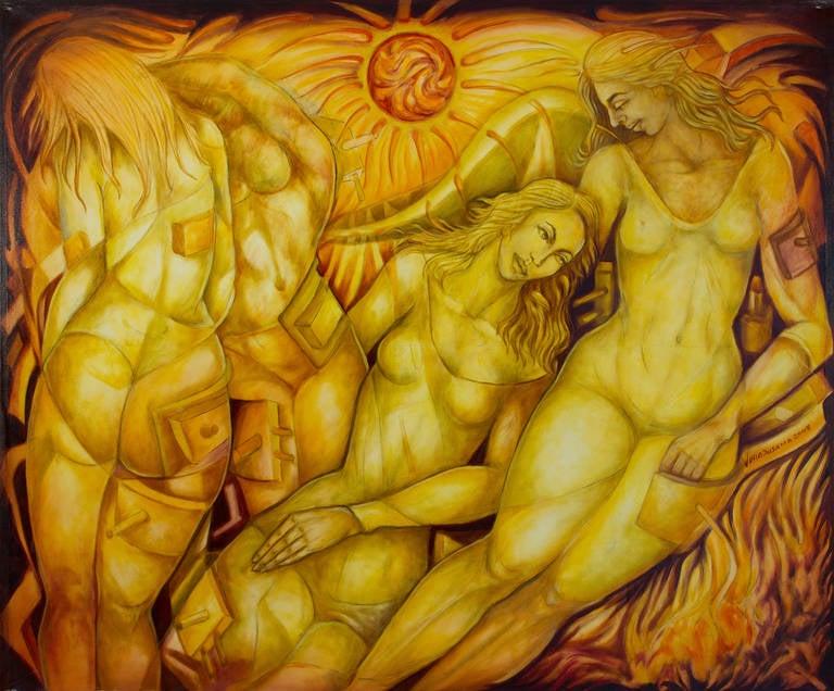 Julio Susana Figurative Painting - Enegia Solar