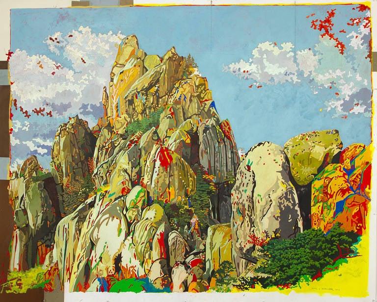 Eric Jon Holswade Landscape Painting - Bird's Eye View