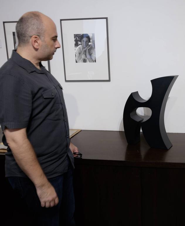 Rune (Black) - Contemporary Sculpture by Ed Dean